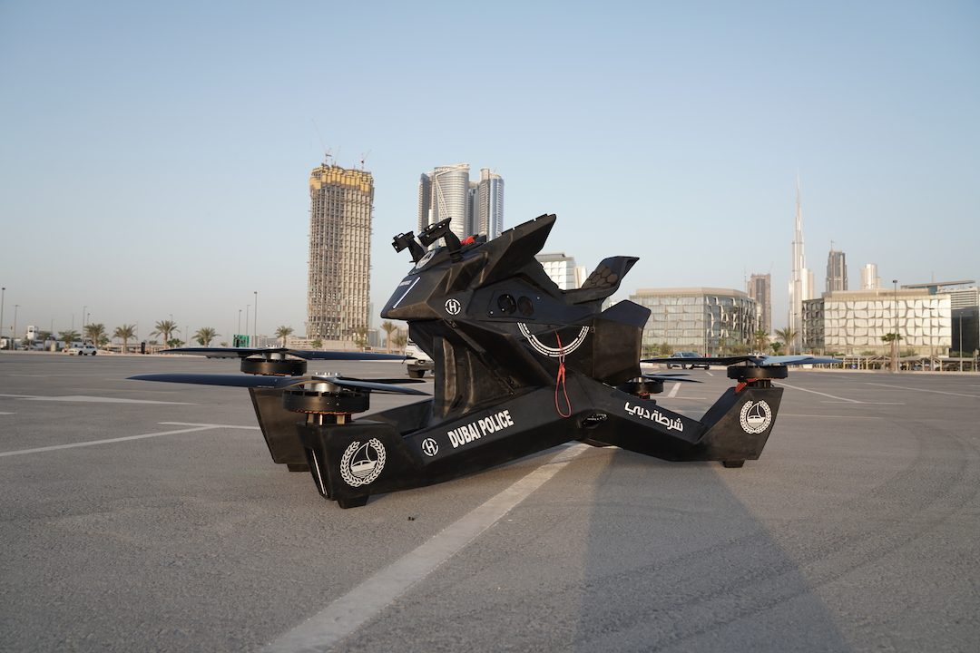 Dubai Police Force Starts Training on Flying Motorbikes