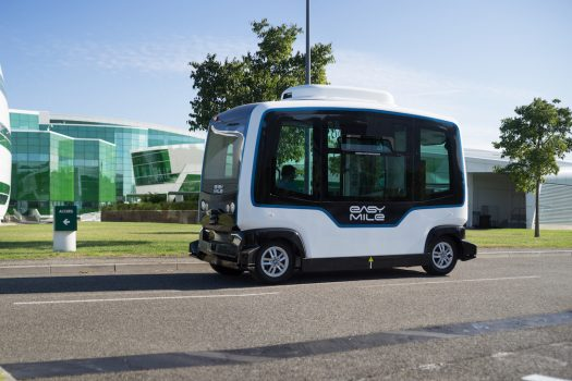 ComfortDelGro EasyMile self-driving shuttle bus
