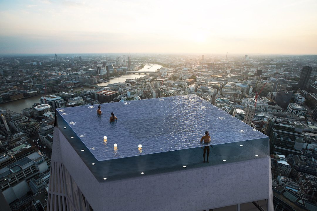 Infinity London: World's First 360-degree Infinity Pool